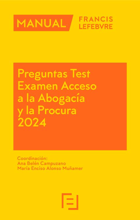 Manual Preguntas Test Examen Acceso a la Abogacía 2017-2018