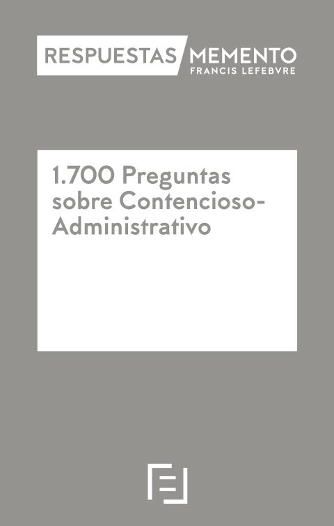 1700 Preguntas sobre Contencioso-Administrativo